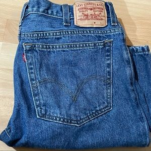 LEVI'S 38x29 Slim Fit Straight Leg Denim Jeans